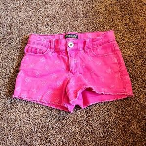Jordache girls pink floral shorts